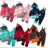пуховк детский Хит комплект зимний комбинезон монклер куртка