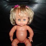 Шикарная винтажная кукла курносая красавица Себино Sebino Италия оригинал клеймо 36 см