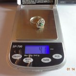 Роскошное Серебряное кольцо с изумрудом -.Фантастика.Эксклюзив