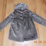 Фирменная шуба TU для девочки 3-4 года, 98-104 см