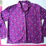 Фирменная байковая кофточка пижама на 8-10 размер