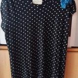 Женская футболка, майка, туника, Zara, размер M, L, XL, горох