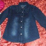 Рубашка джинсовая gloria jeans