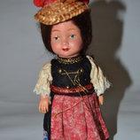 Старинная антикварная танцующая коллекционная механическая кукла,винтаж редкость