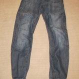 Узкие резаные джинсы на резинках Denim cO Cuff leg.. Англия. 30/32
