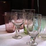 хрустальные стаканы рюмки кружки