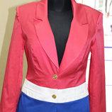 Шикарный пиджак женский на подкладке коралловый, р.44,46, Турция