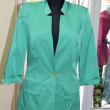 Пиджак женский на подкладке зеленый, р.46-50, Турция