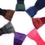 Стильные теплые зимние цветные женские леггинсы лосины гамаши на меху