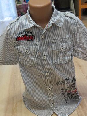 стильная рубашка с коротким рукавом Маталан 6-7лет