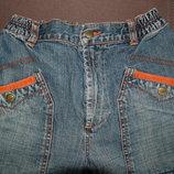джинсы,синие, на резинке, 140