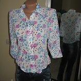 Легкая шифоновая рубашка, 2 оттенка, M, L, XL - 42,44,46