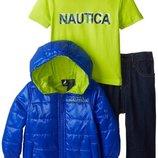 Новый демисезонный комплект Nautica. куртка, джинсы, футболка. Оригинал. разм.18мес