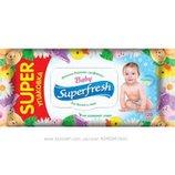 Влажные салфетки SuperFreh 120шт. суперфреш з клапаном