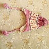 теплая шапка 100% акрил для девушки