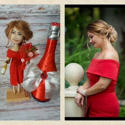 Изготовлю портретную текстильную куклу по фото.