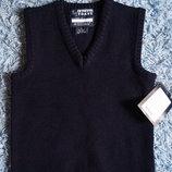 Новая темно-синяя жилетка для мальчика р. 36-42 на 7-15 лет, рост 138-162