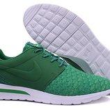 Кроссовки Nike Roshe Run 3M Flyknit - зеленые