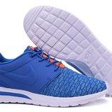 Кроссовки Nike Roshe Run 3M Flyknit - синие