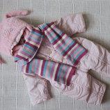 Тёплый комбинезон для новорожденной девочки.