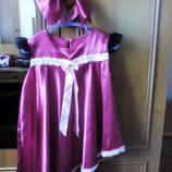 Нарядное платье для девочки с повязкой на голову-бант