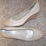 38 р-24,5 см Новые Кожа трендовые балетки от San Marina