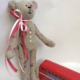 Мишка-Романтик оригинальный подарок тильда хлопок день рождение дочке девушке любимой