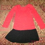 платье -туника теплое