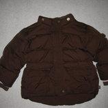 зимняя куртка Gap, натуральный пуховик на 2-3 года