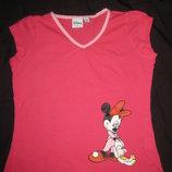 красивая яркая футболка на 7-9 лет Disney с Минни