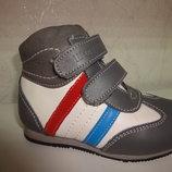 Утепленные кожаные деми ботинки 21,22 р. Шалунишка на мальчика, ботінки, демі, флисе, весенние