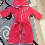Детский халатик с окантовкой, удобный, теплый, сказочно красивый
