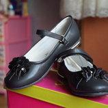 Туфли ортопедические для девочки новые чёрные размер 33,34,35,36