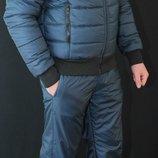 Стильный, теплый зимний мужской костюм на холлофайбере Макс