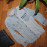Джинсовая рубашка NEXT,8-9 лет
