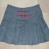 юбка шерстяная Зара, серая, 150-155см, 14лет