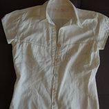 Блузка с коротким рукавом белая Levi's, р. 34, оригинал