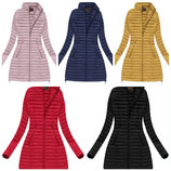 Демисезонное стеганое женское пальто маленькие большие размери