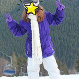 Зимняя лыжная куртка на девочку 10-14 лет курточка пуховик