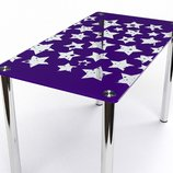 Кухонный стол Звезды стеклянный