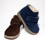 Замшевые демисезонные ботинки, Bubbl Bobbl коричневый, синий, фуксия.