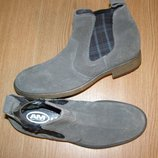 40р - 28 см Новые мужские ботинки от AM. Замша, эксклюзив