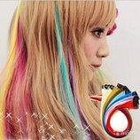 Цветные пряди. Купить - локоны для волос на заколках, длинные, трессы, мелки, накладные волосы