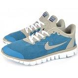 Кроссовки мужские Nike Free Run 3.0 на гибкой белой подошве