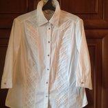 Модная белая блуза- рубашка 52-56 размер