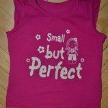 2 - 3 года Крутая фирменная футболочка футболка для стильных эффектная вещица с надписью