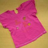 Розовая футболка девочке до 5 лет