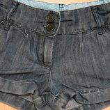 джинсовые шорты для девочки некст 3-4года