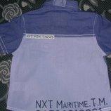 очень стильная рубашка Next на малыша 6-9 месяцев.реально до года подойдет