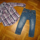 стильные рубашки и шведки на 1-3 года